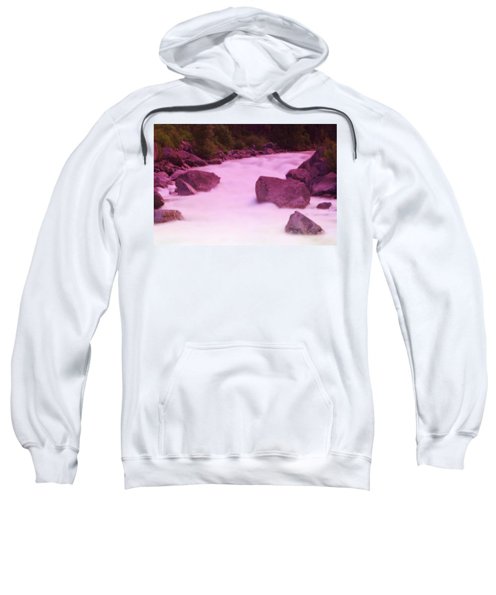 Rivers Sweatshirt featuring the photograph Wenatchee River by Jeff Swan