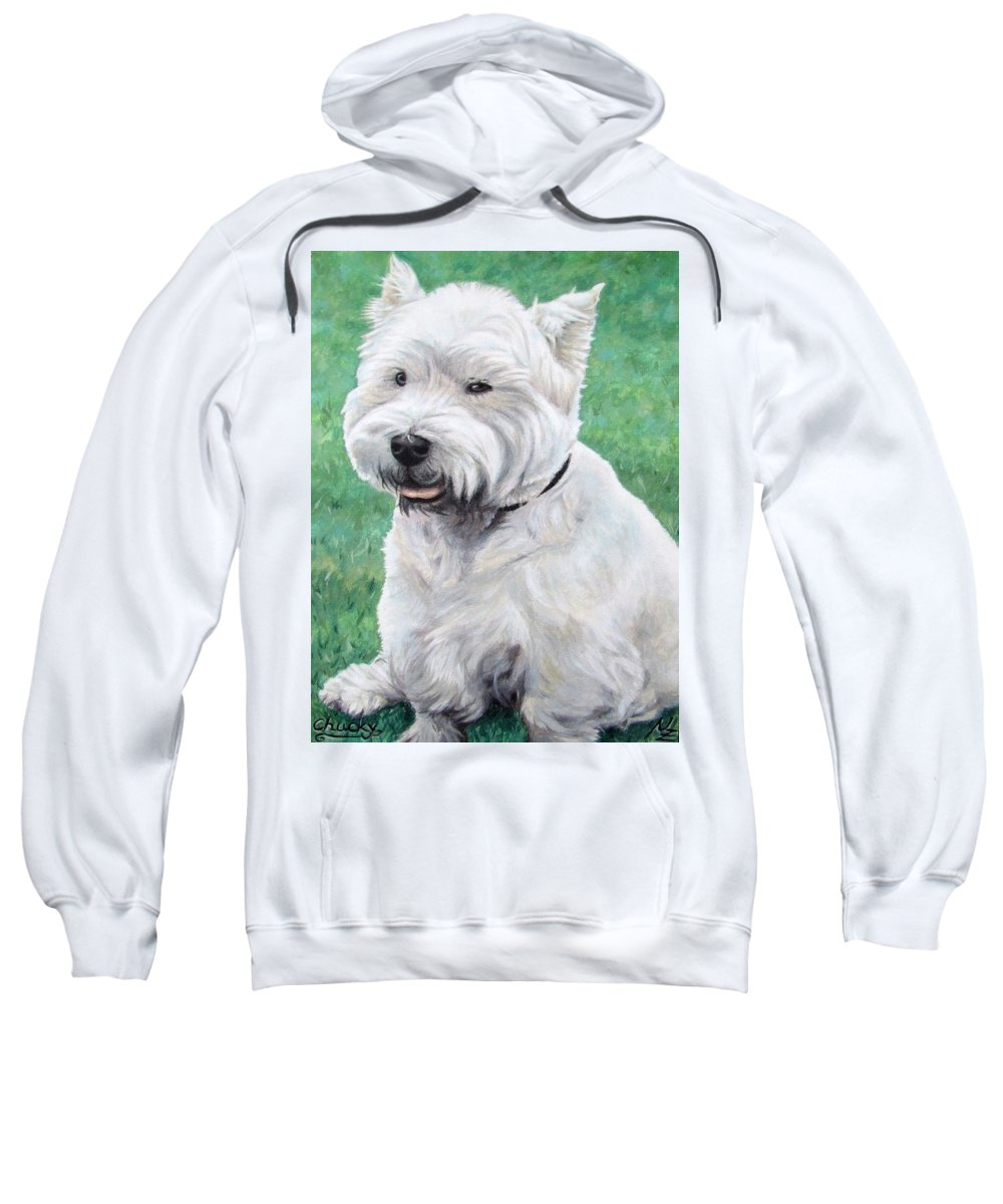 Dog Sweatshirt featuring the painting West Highland Terrier by Nicole Zeug