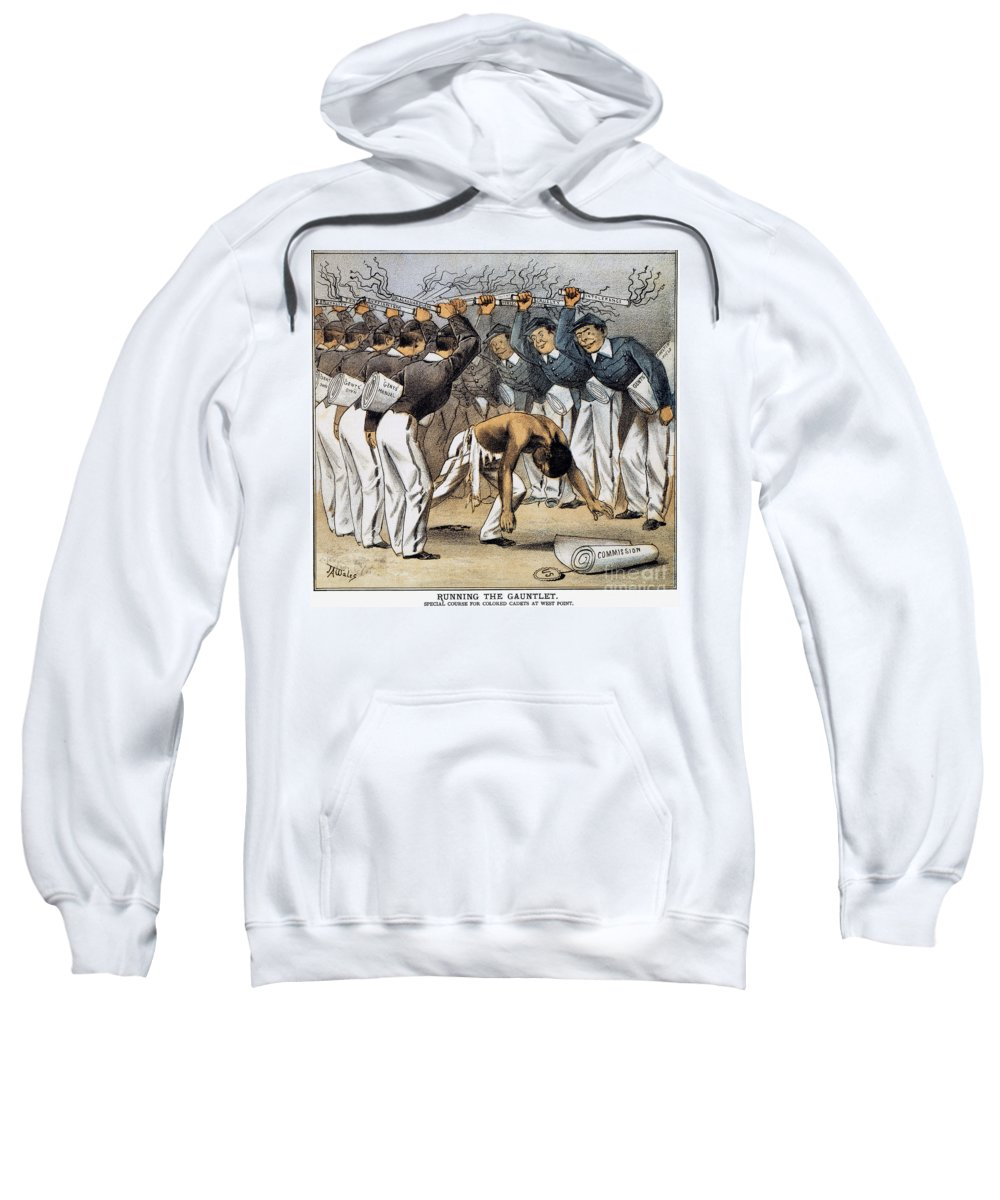 1880 Sweatshirt featuring the photograph West Point Cartoon, 1880 by Granger