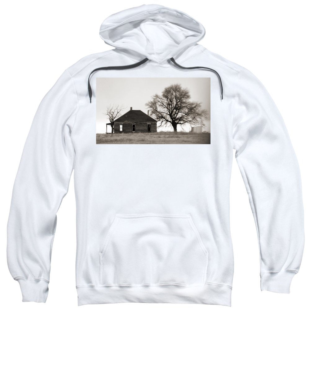 Texas Sweatshirt featuring the photograph West Texas Winter by Marilyn Hunt