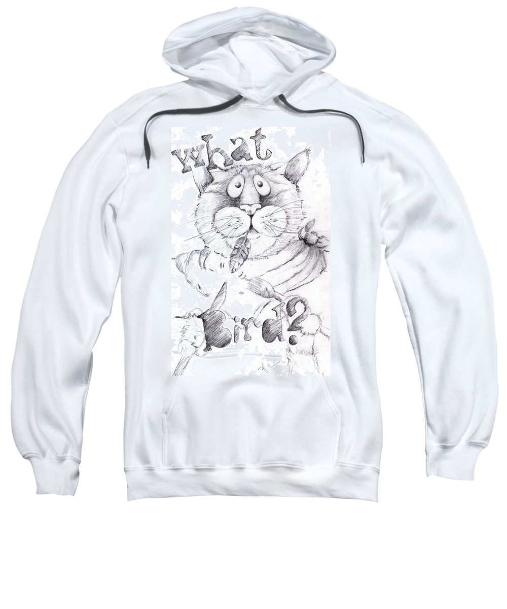 Charity Sweatshirt featuring the drawing What Bird by Mary-Lee Sanders