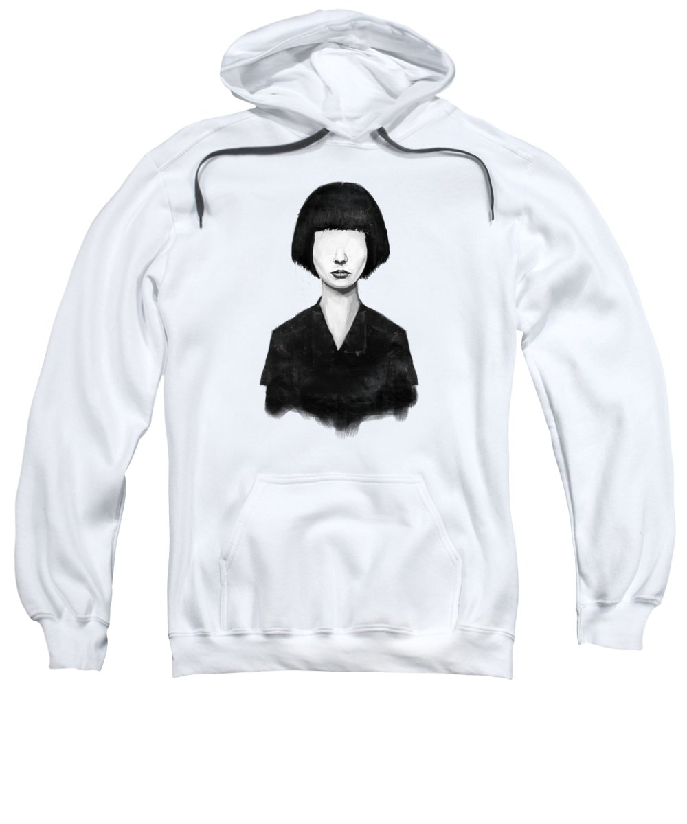 Girl Sweatshirt featuring the mixed media What You See Is What You Get by Balazs Solti