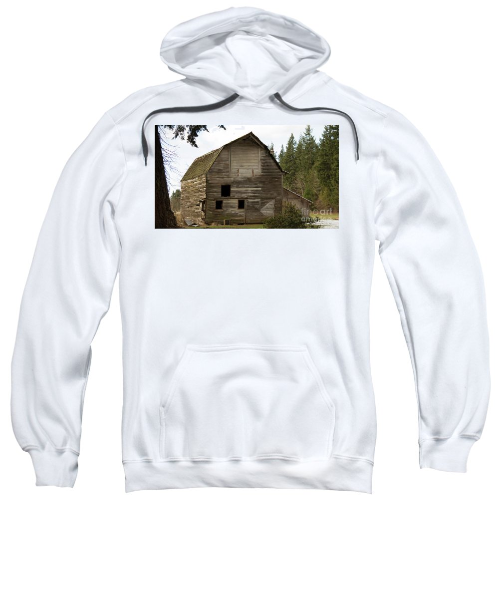 Barn Sweatshirt featuring the photograph Whatcom Barn_mg_0808-edit- by Roger Patterson