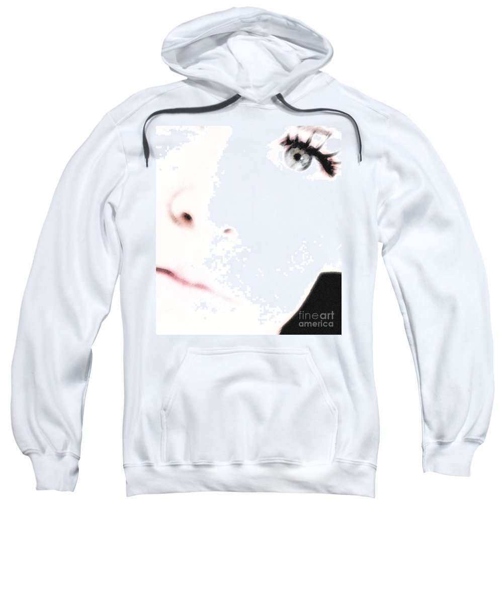 Face Sweatshirt featuring the photograph Where Is The Soul by Amanda Barcon