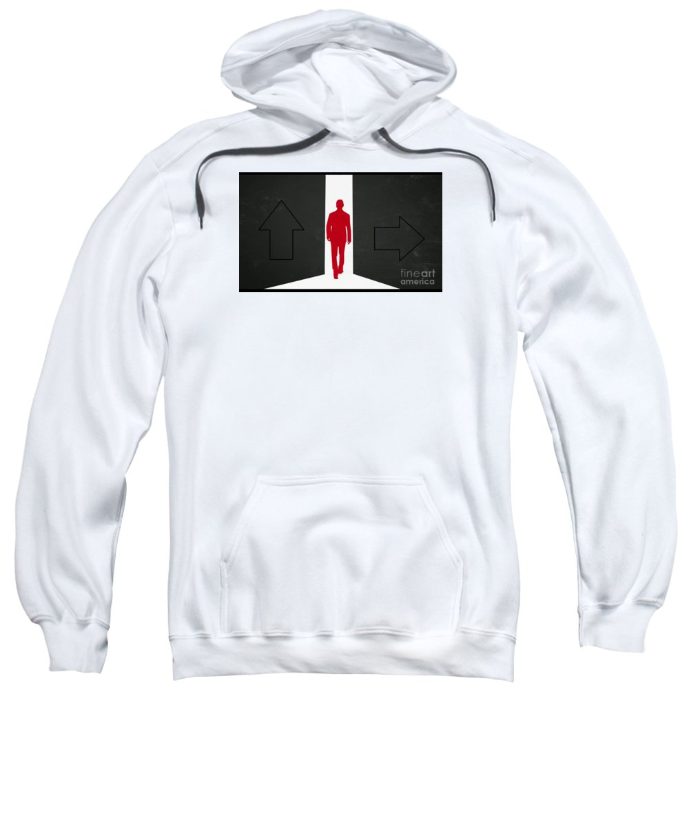 Which Direction Sweatshirt featuring the painting Which Direction by Archangelus Gallery