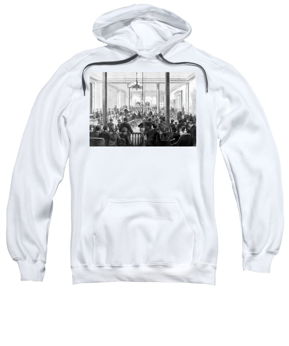 1876 Sweatshirt featuring the photograph Whiskey Ring Trial, 1876 by Granger
