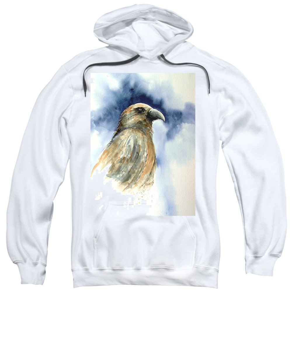 Falcon Sweatshirt featuring the painting Whistler by Sam Sidders
