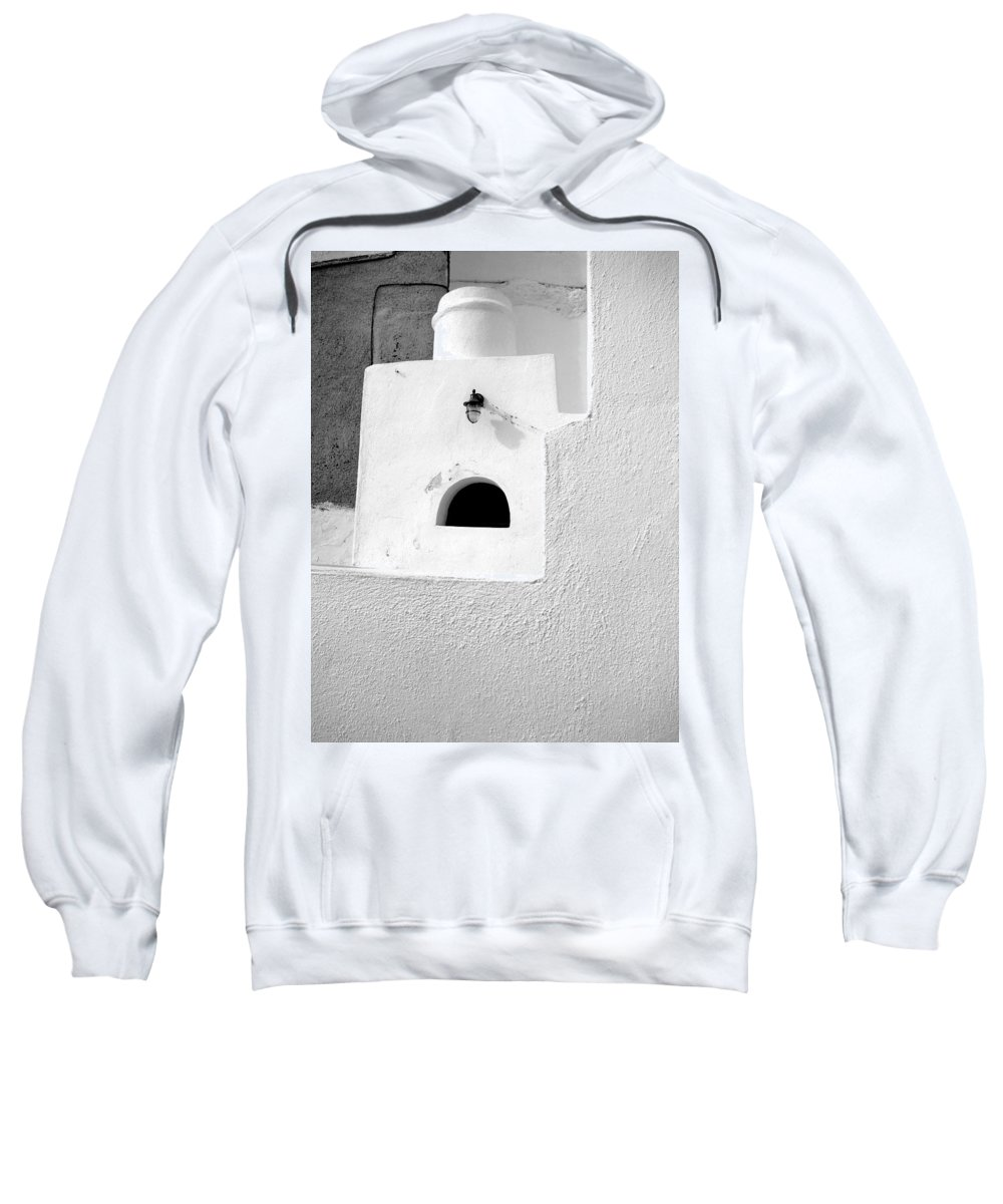 White Sweatshirt featuring the photograph White Abstract by Ana Maria Edulescu