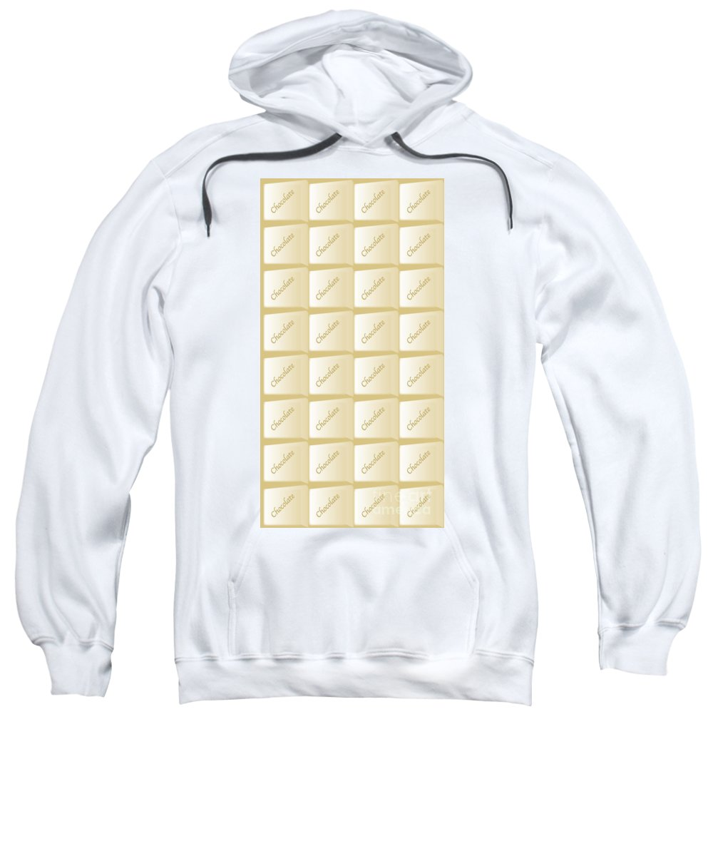 Chocolate Sweatshirt featuring the digital art White Chocolate Bar by Bigalbaloo Stock