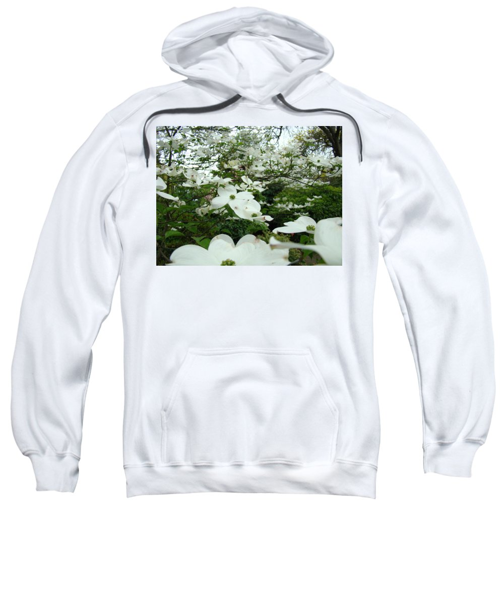 Dogwood Sweatshirt featuring the photograph White Dogwood Flowers 6 Dogwood Tree Flowers Art Prints Baslee Troutman by Baslee Troutman