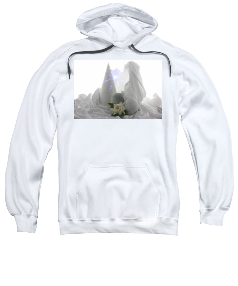Flowers Sweatshirt featuring the photograph White Dream by Manfred Lutzius