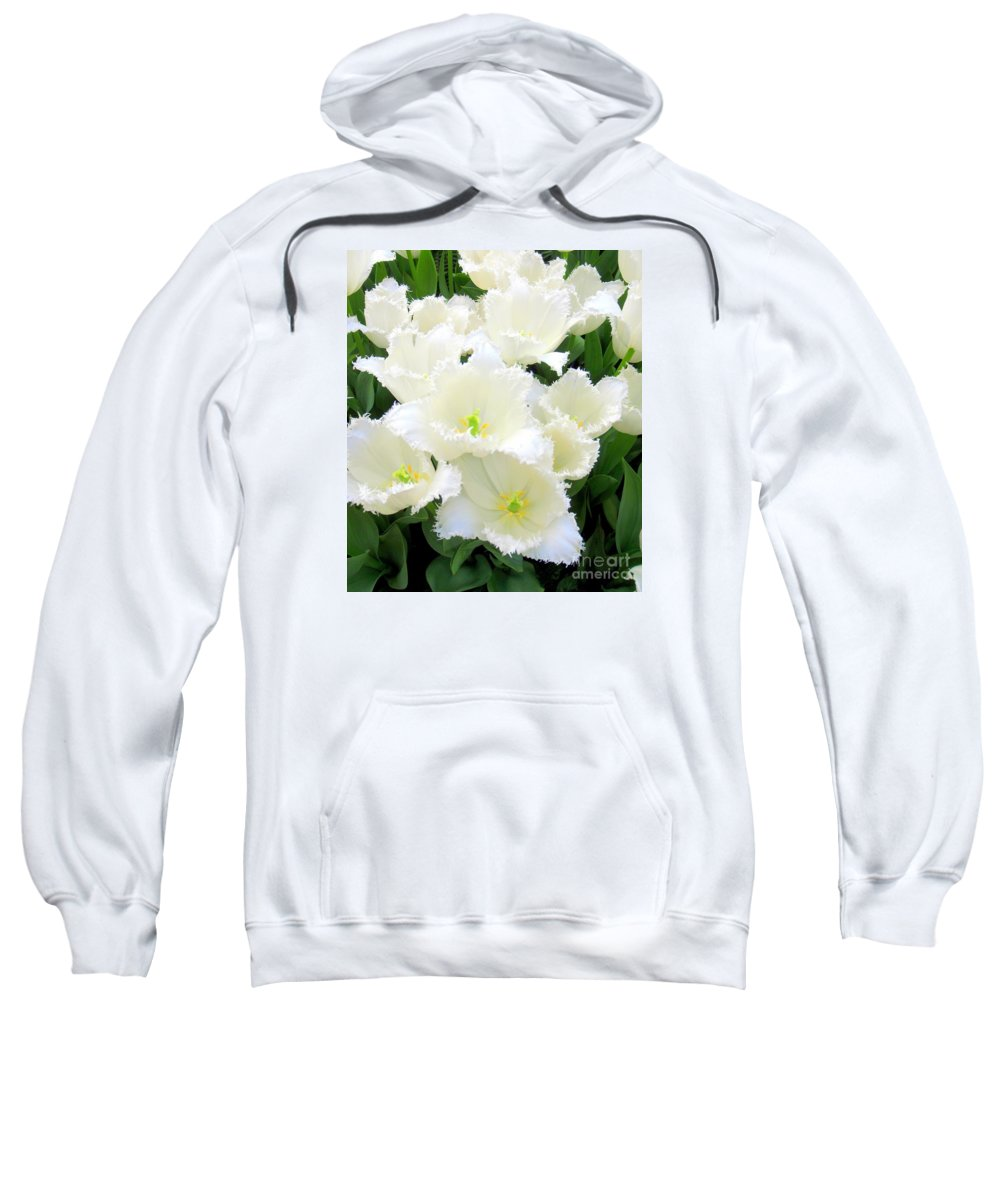 Tulips Sweatshirt featuring the photograph White Tulips by Mary Deal