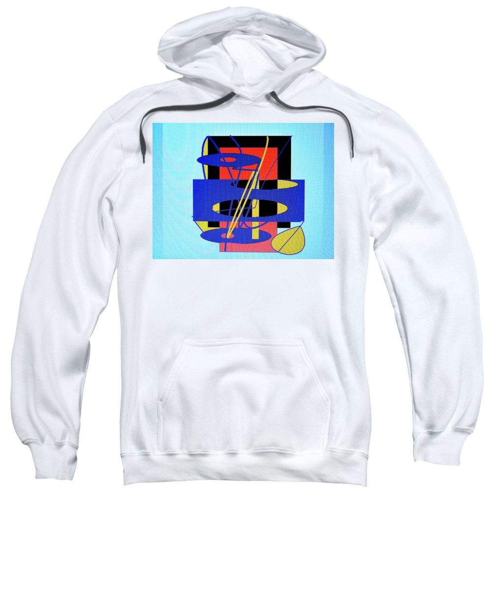 Abstract Sweatshirt featuring the digital art Widget World by Ian MacDonald
