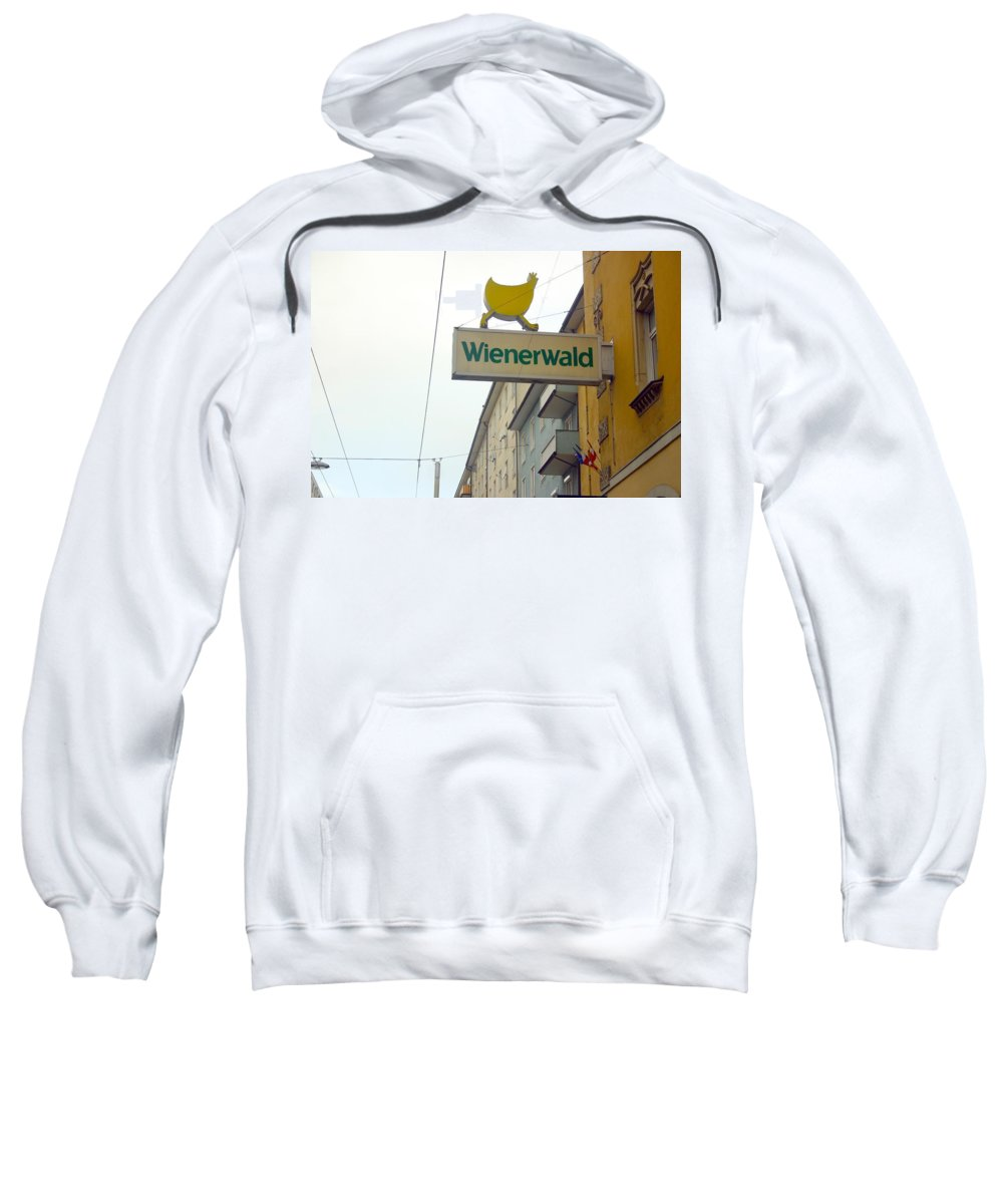 Chicken Sweatshirt featuring the photograph Wienerwald In Salzburg by Minaz Jantz