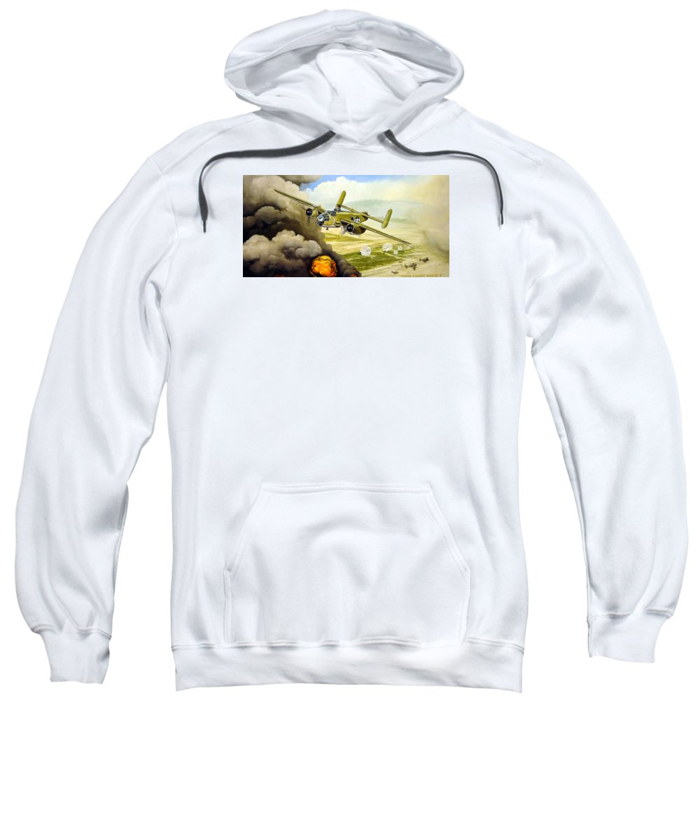 Aviation Sweatshirt featuring the painting Wild Cargo by Marc Stewart