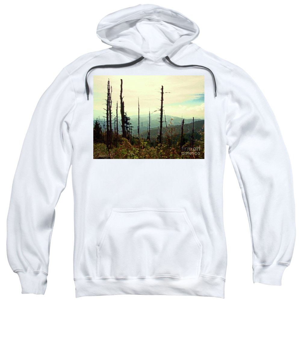 Wildfire Sweatshirt featuring the mixed media Wildfire by Desiree Paquette