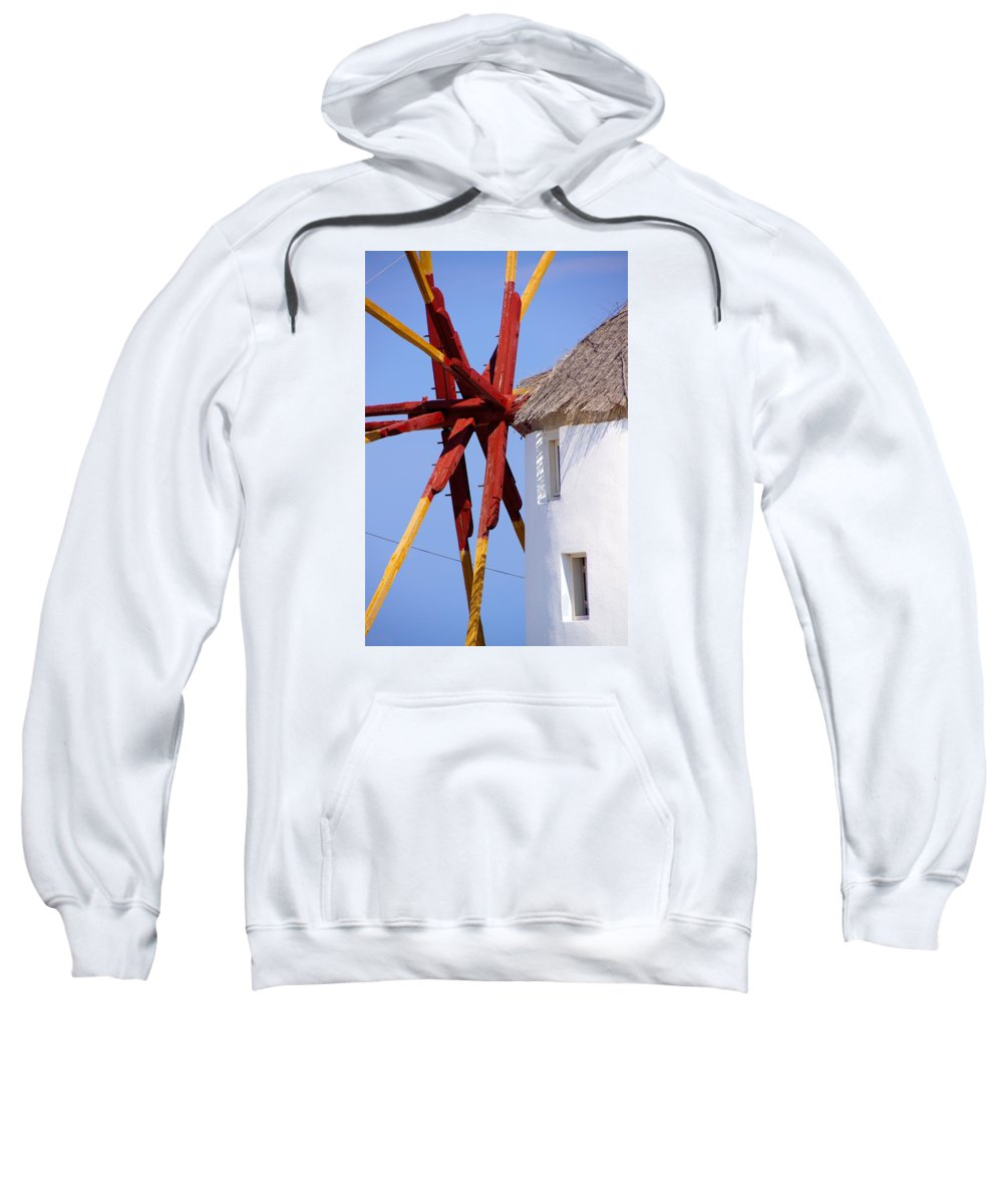 Windmill Sweatshirt featuring the photograph Windmill Strength by Ron Koivisto