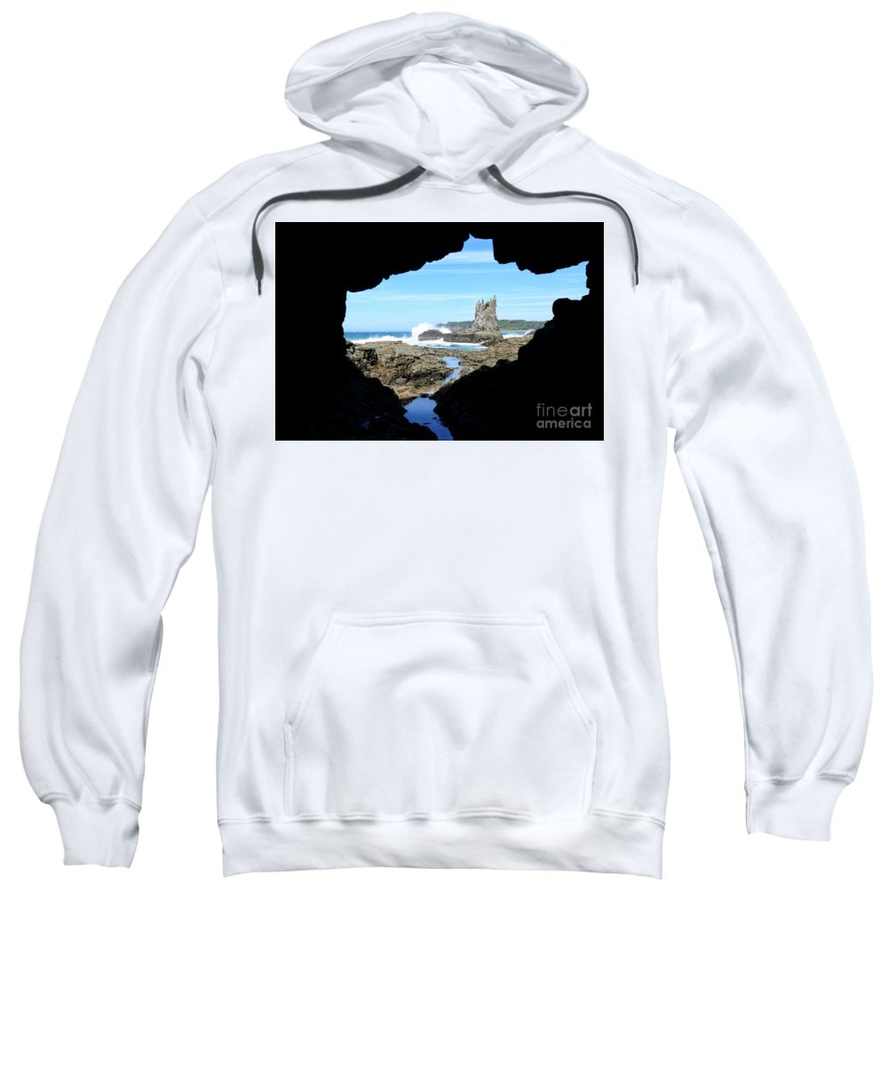 Water Sweatshirt featuring the photograph Window On The World by Genevieve Vallee