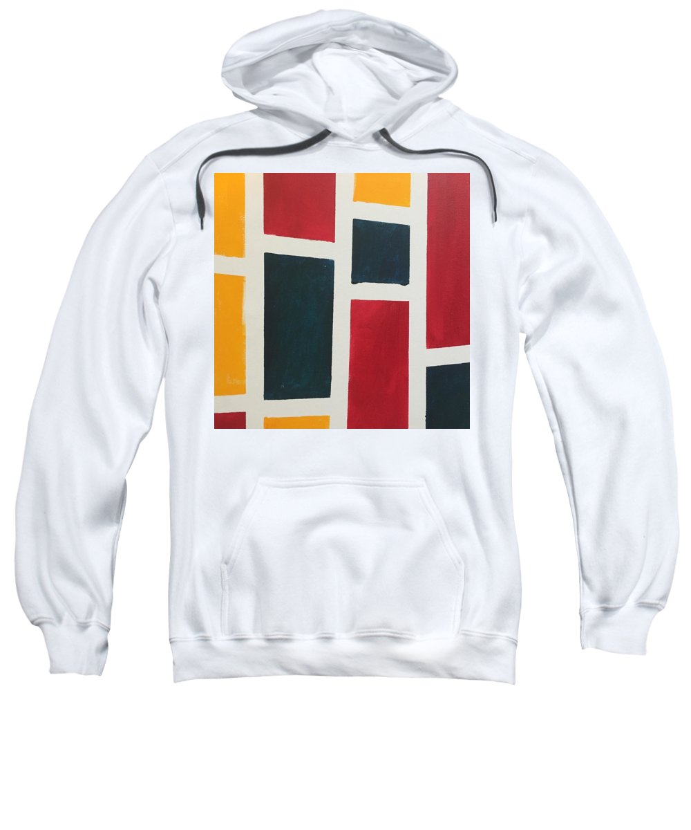 Switzerland Sweatshirt featuring the painting Windows by Olguita Erin