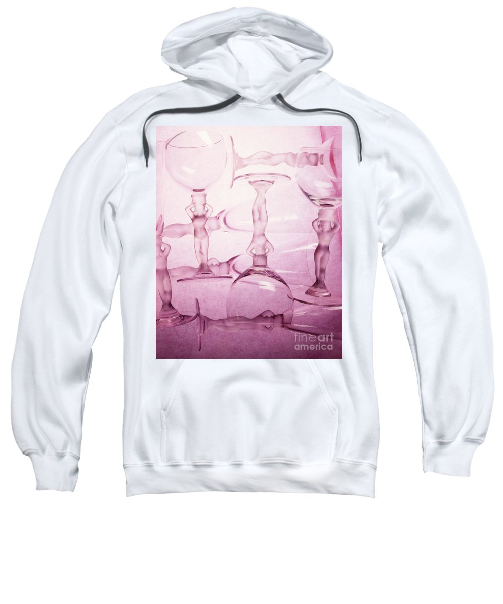 Arty Sweatshirt featuring the photograph Wine Goddesses by Stefania Levi