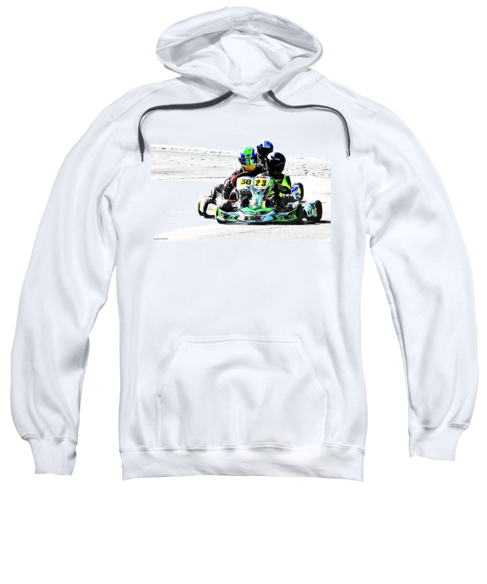 Wingham Go Karts Australia Sweatshirt featuring the photograph Wingham Go Karts 09 by Kevin Chippindall