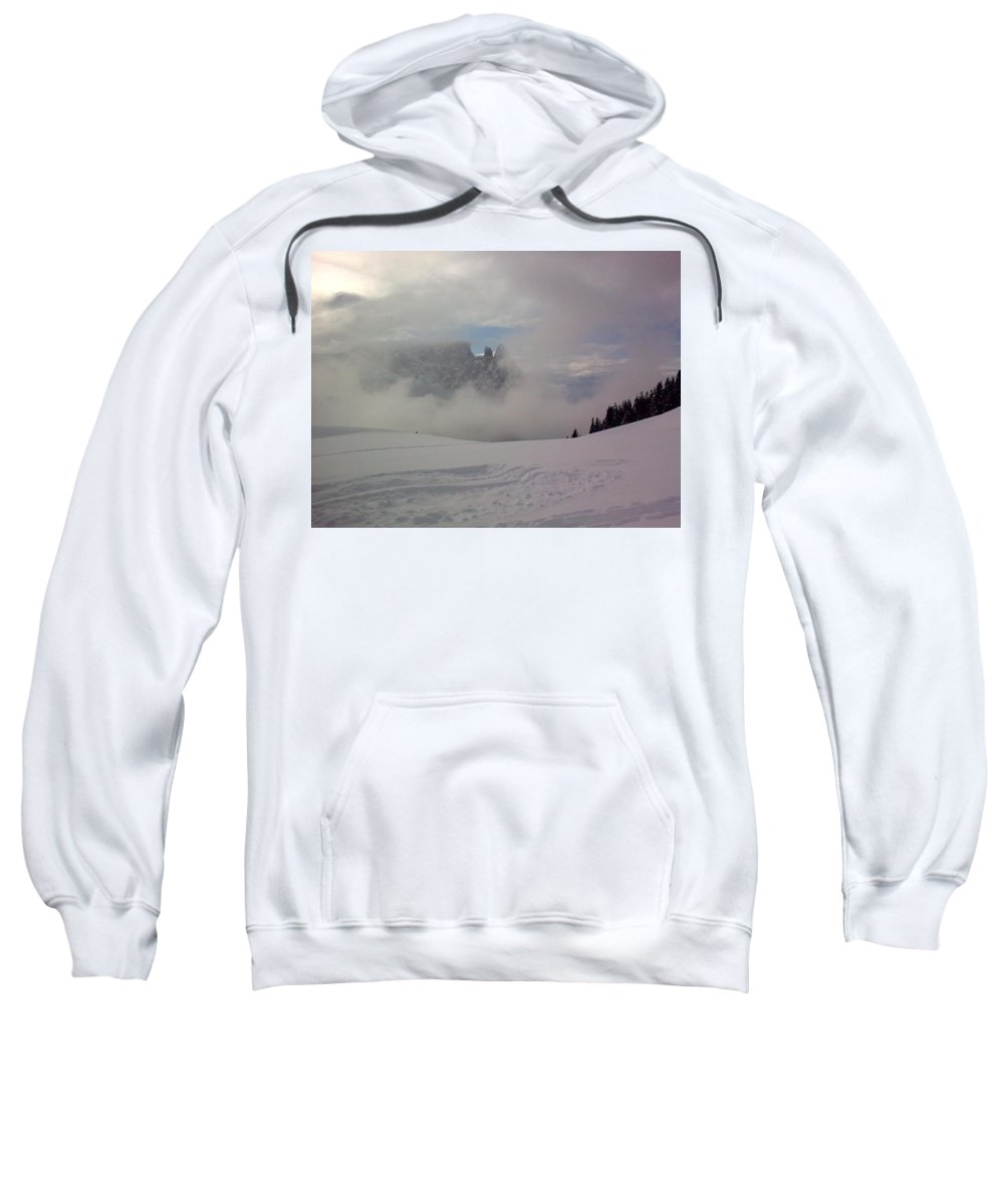 Landscape Sweatshirt featuring the photograph Winter In The Dolomite Alps by Valerie Ornstein