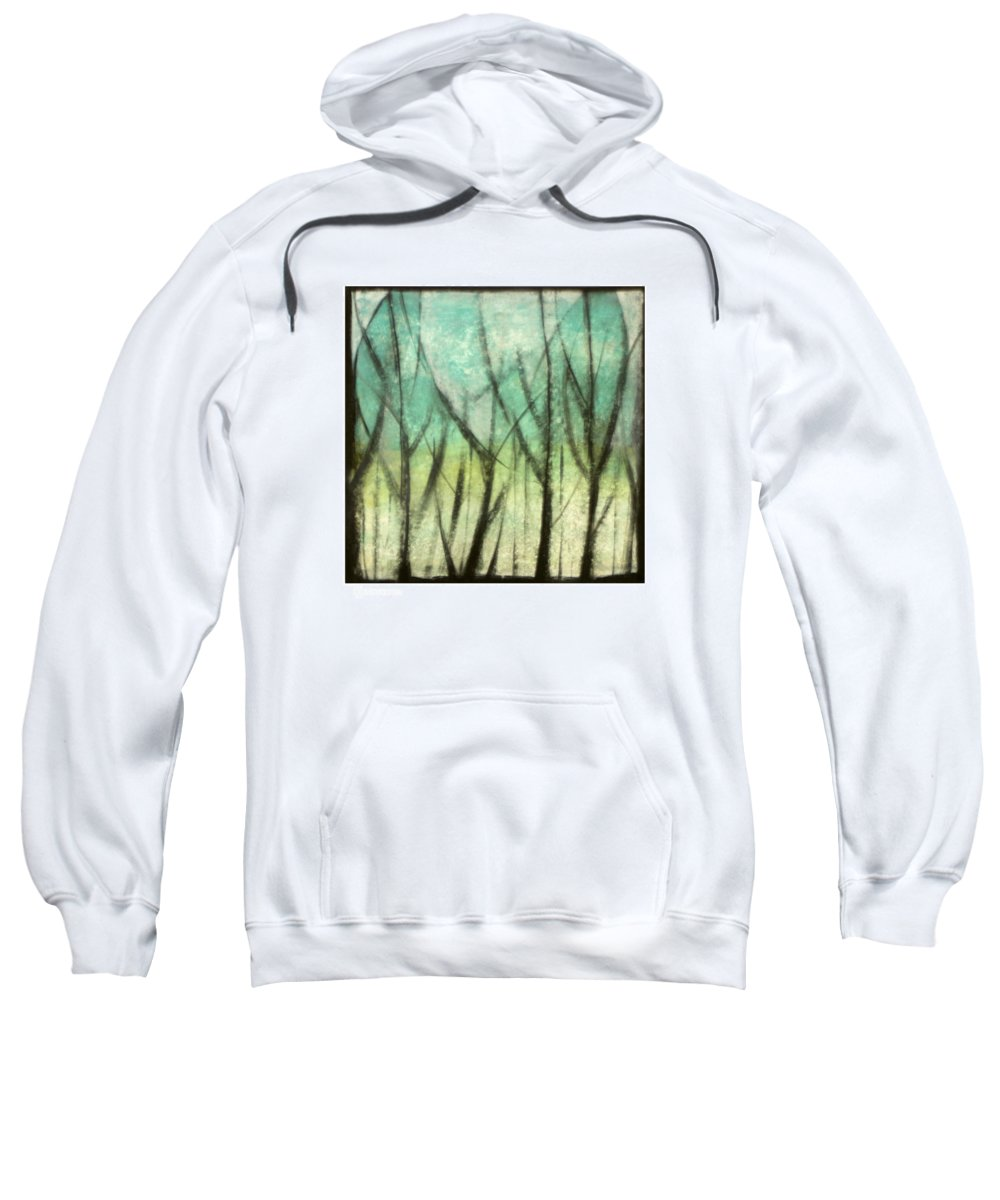 Trees Sweatshirt featuring the painting Winter Into Spring by Tim Nyberg