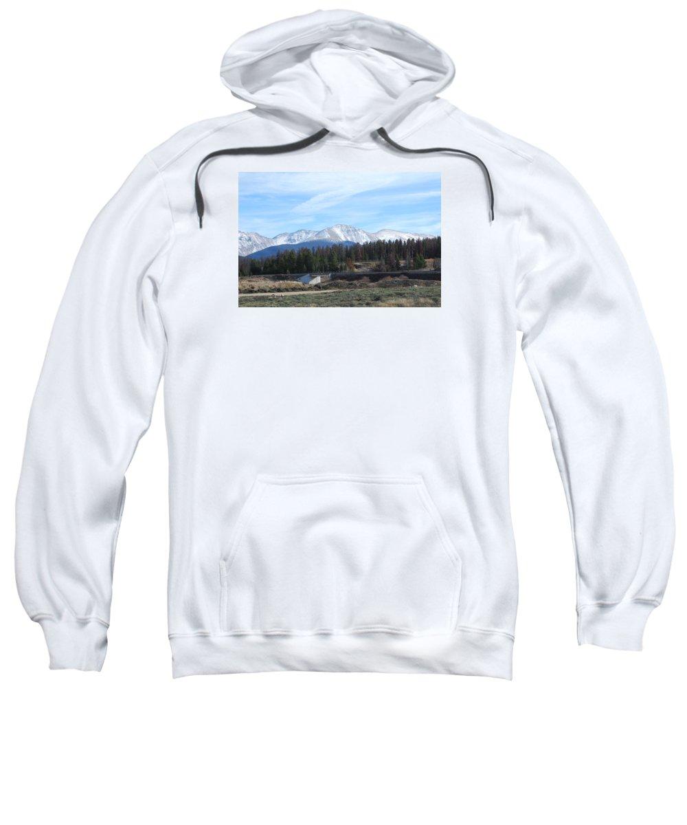 Colorado Sweatshirt featuring the photograph Winter Park Colorado by Margaret Fortunato
