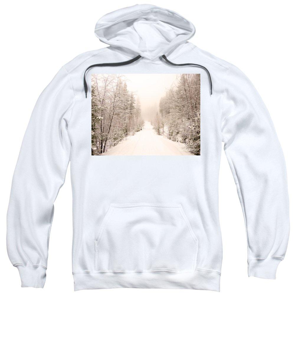 Winter Sweatshirt featuring the photograph Winter Quiet by Tara Turner