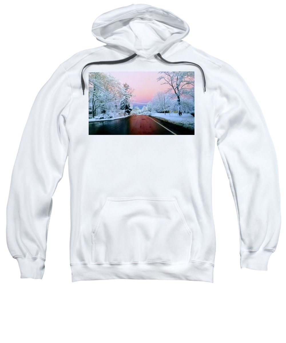 Sweatshirt featuring the photograph Winter St by Kelly Sullivan