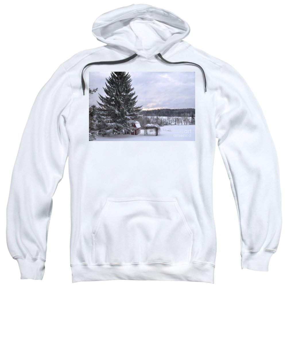 Sunset Sweatshirt featuring the photograph Winter Sunset - 1 by John Black