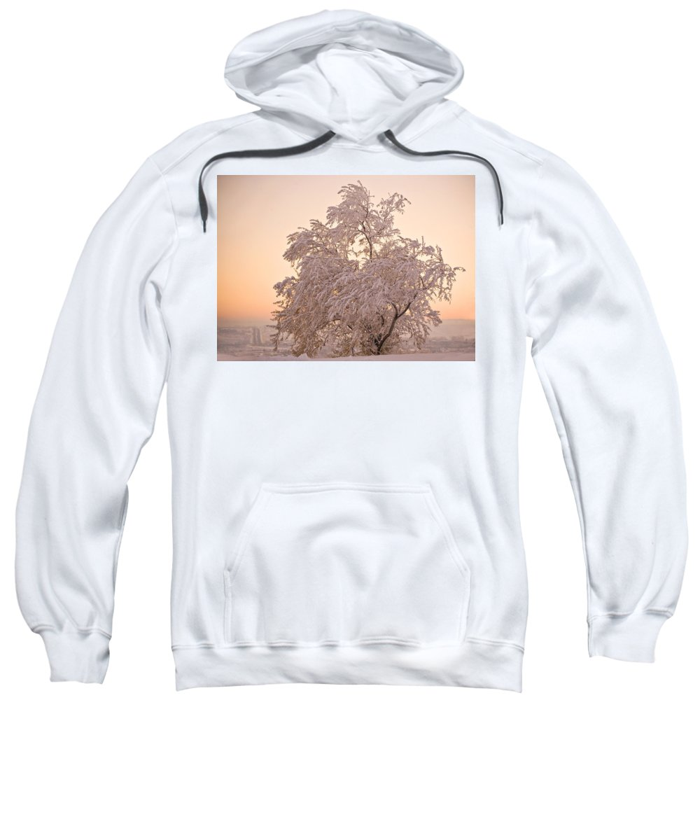 Winter Sweatshirt featuring the photograph Winter Sunset by Marilyn Hunt