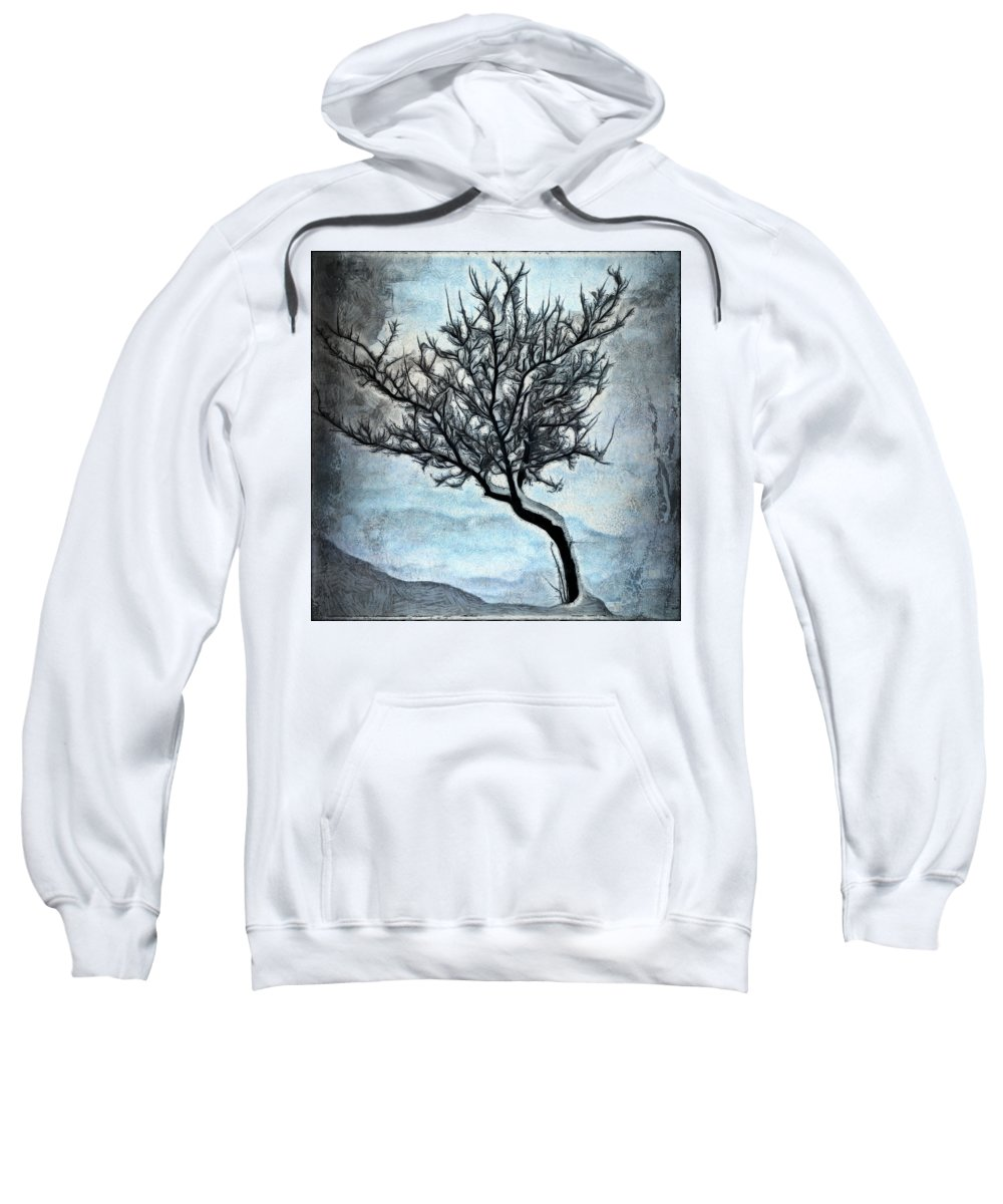 Tree Sweatshirt featuring the digital art Winter Tree II by Ronald Bolokofsky