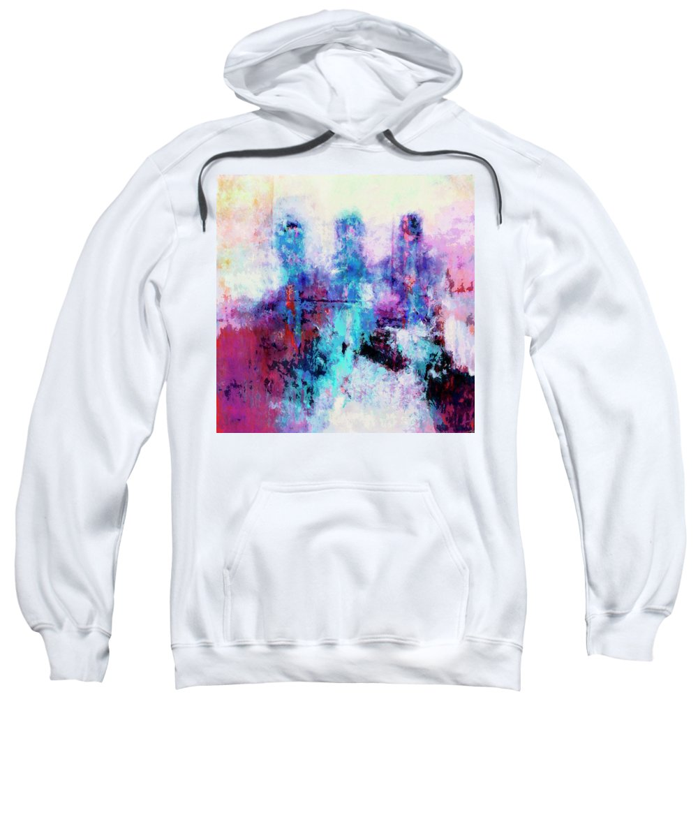 Abstract Sweatshirt featuring the painting Witnesses by Dominic Piperata