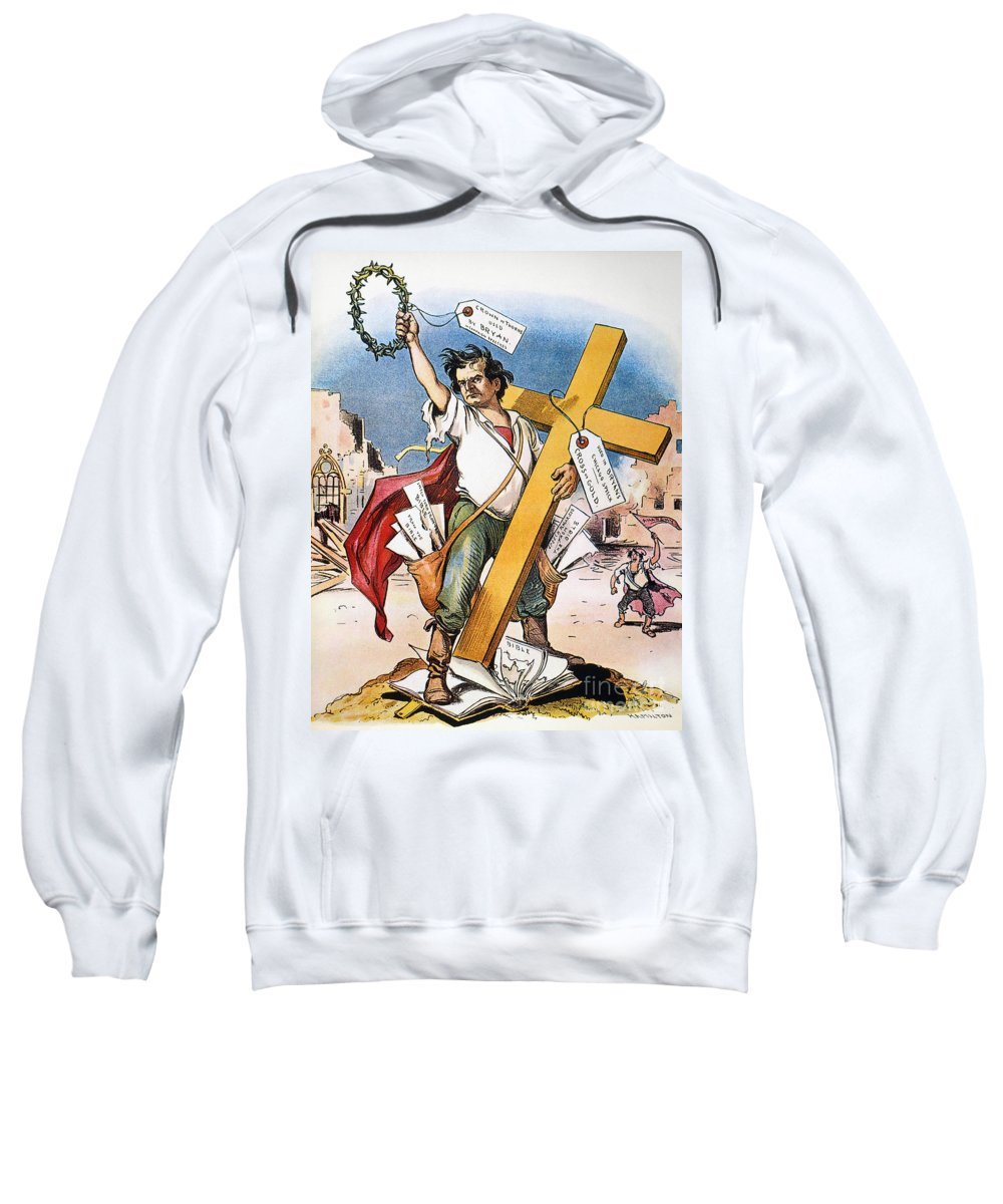 1896 Sweatshirt featuring the photograph W.j. Bryan: Cross Of Gold by Granger