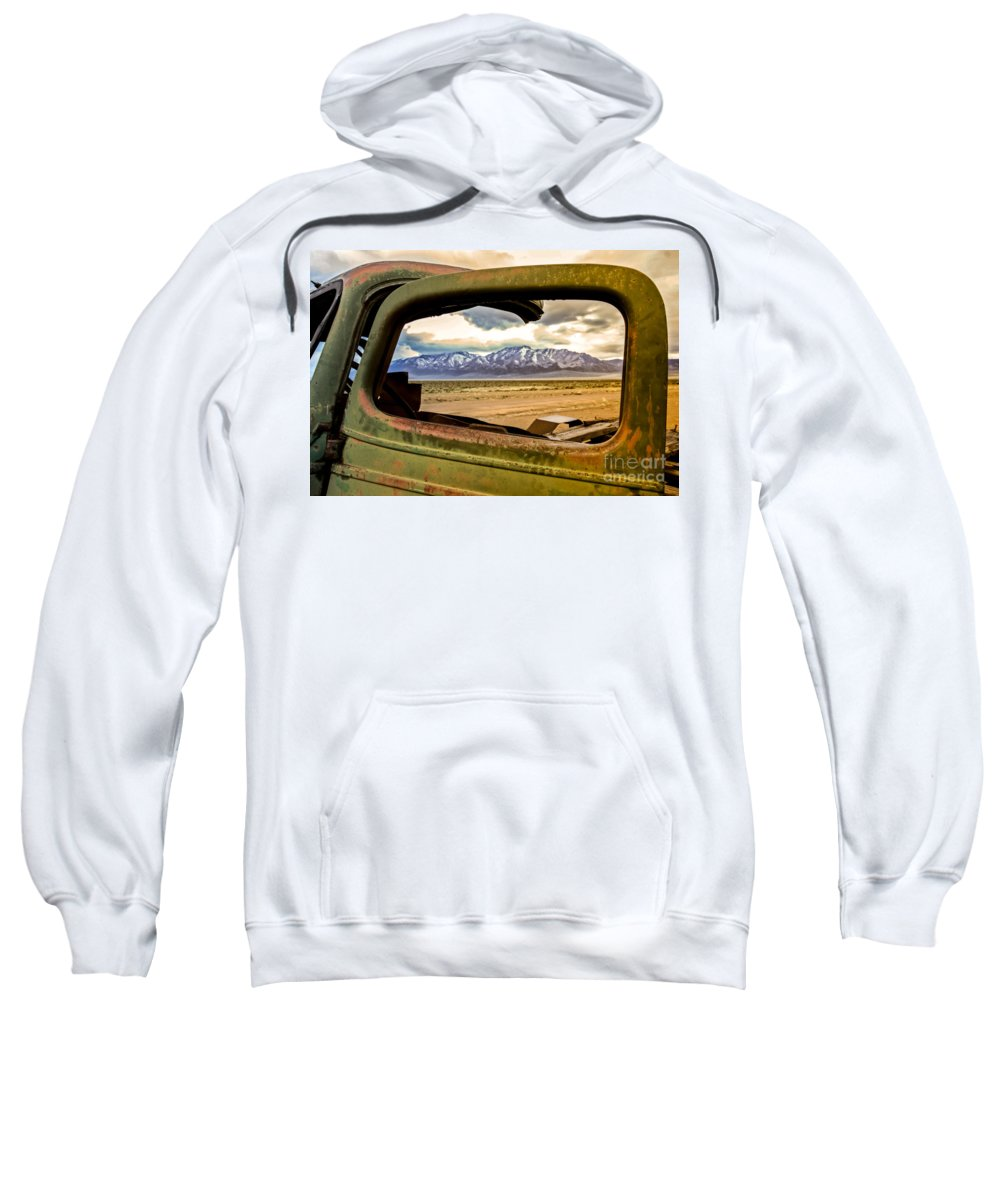 Transportation Sweatshirt featuring the photograph Wndow View by Robert Bales