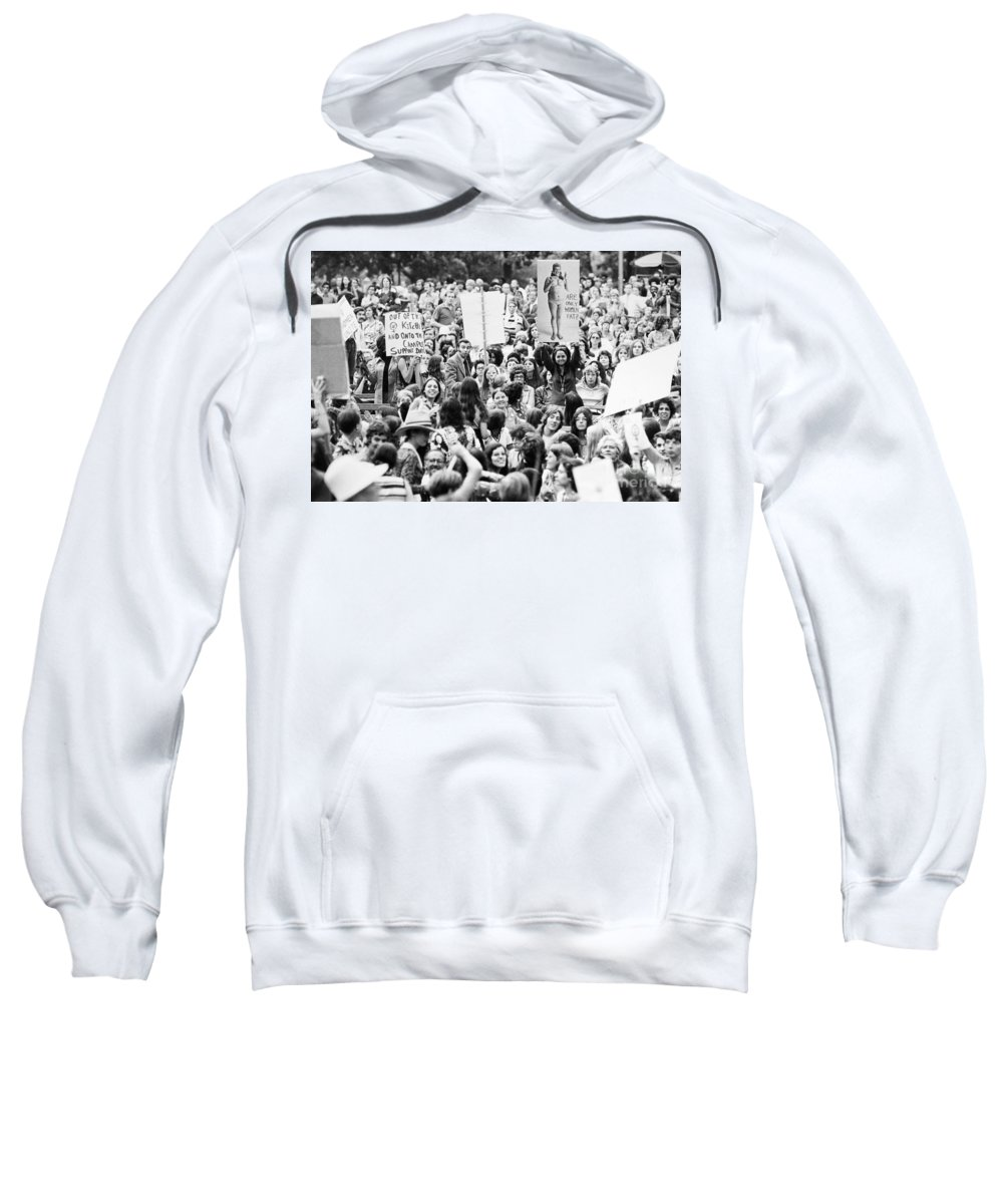 1970s Sweatshirt featuring the photograph Womens Lib, 1971 by Granger