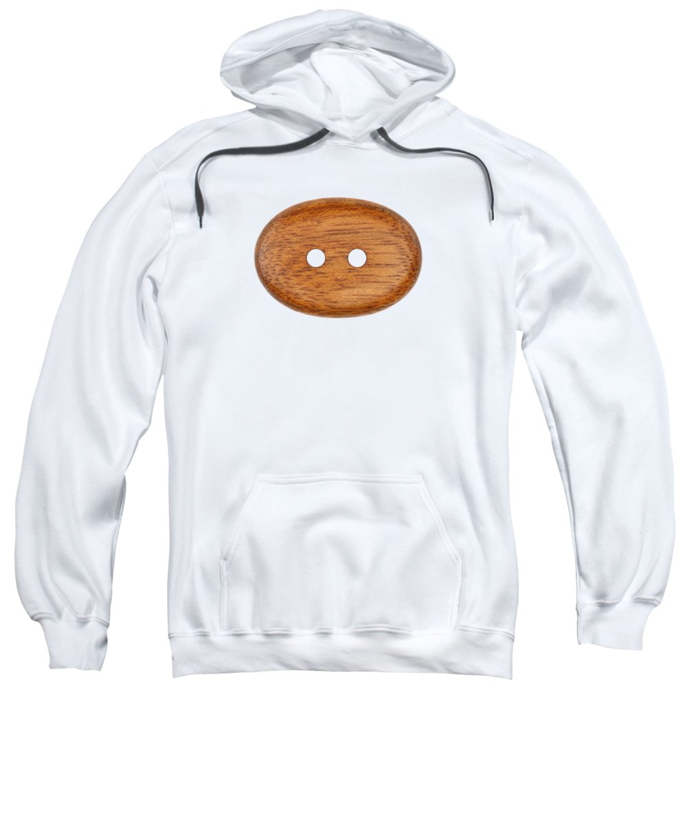 Button Sweatshirt featuring the photograph Wooden Button by Michal Boubin