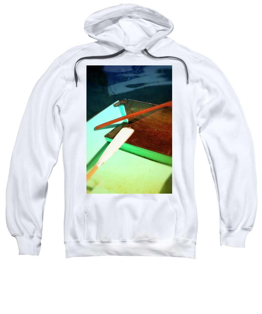 Old Sweatshirt featuring the photograph Wooden Dingy by Savanah Plank