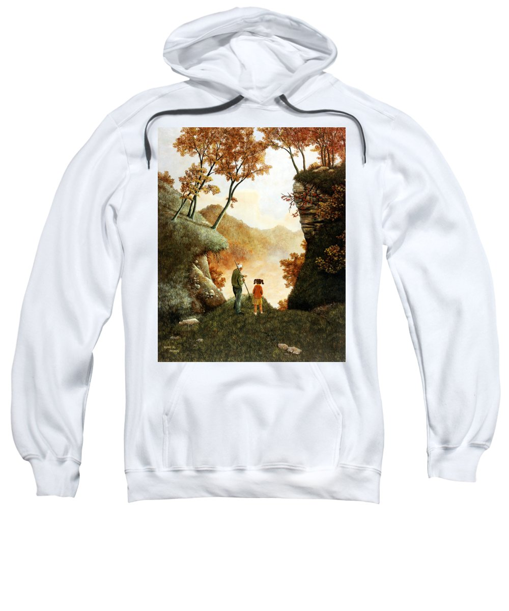 Mountain Sweatshirt featuring the painting Words Of Wisdom by Duane R Probus