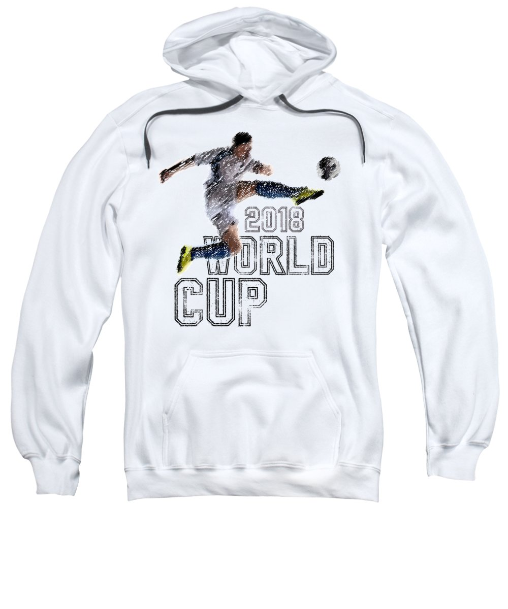 Soccer Sweatshirt featuring the digital art World Cup 2018 by Dusan Naumovski