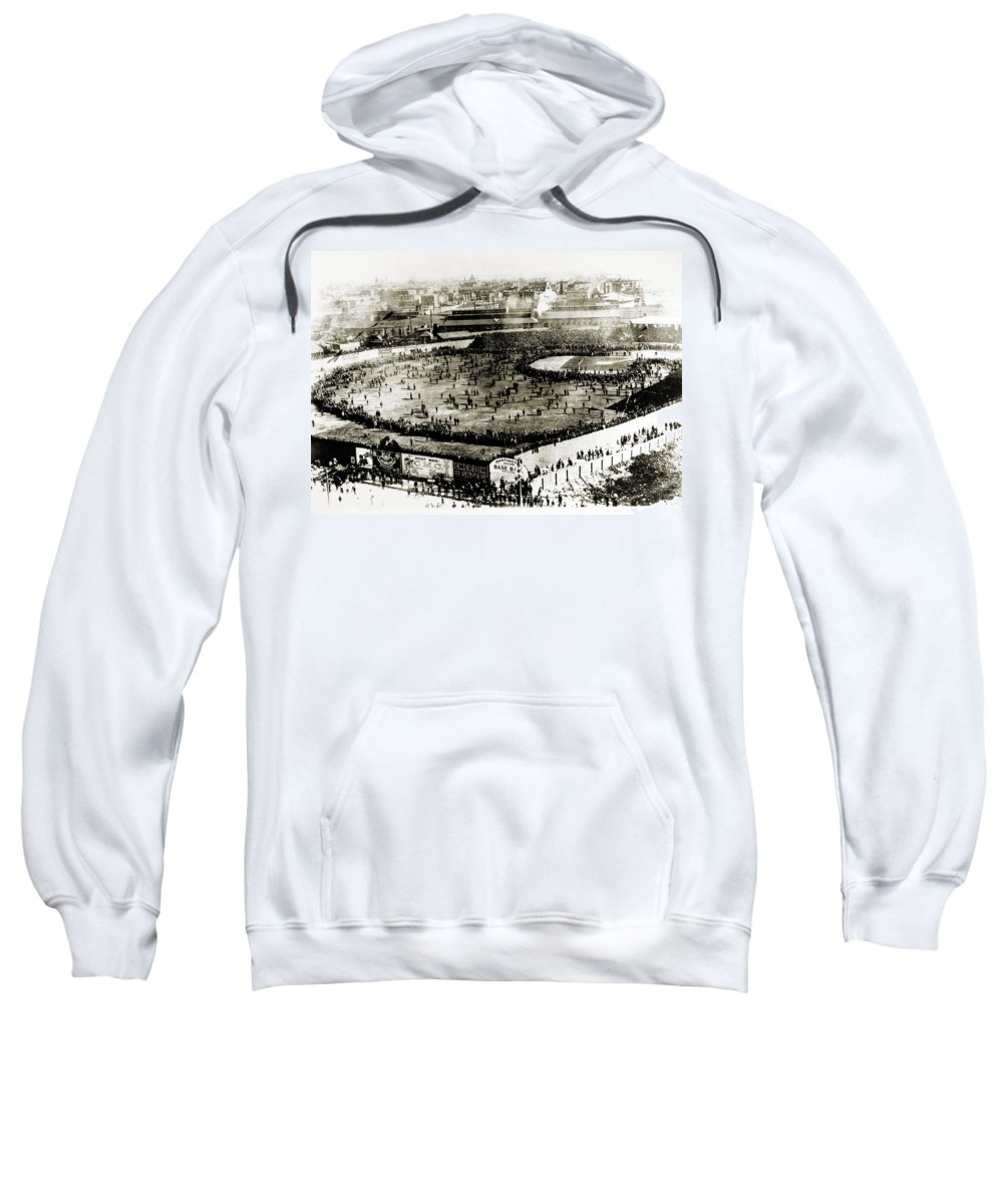 1903 Sweatshirt featuring the photograph World Series, 1903 by Granger