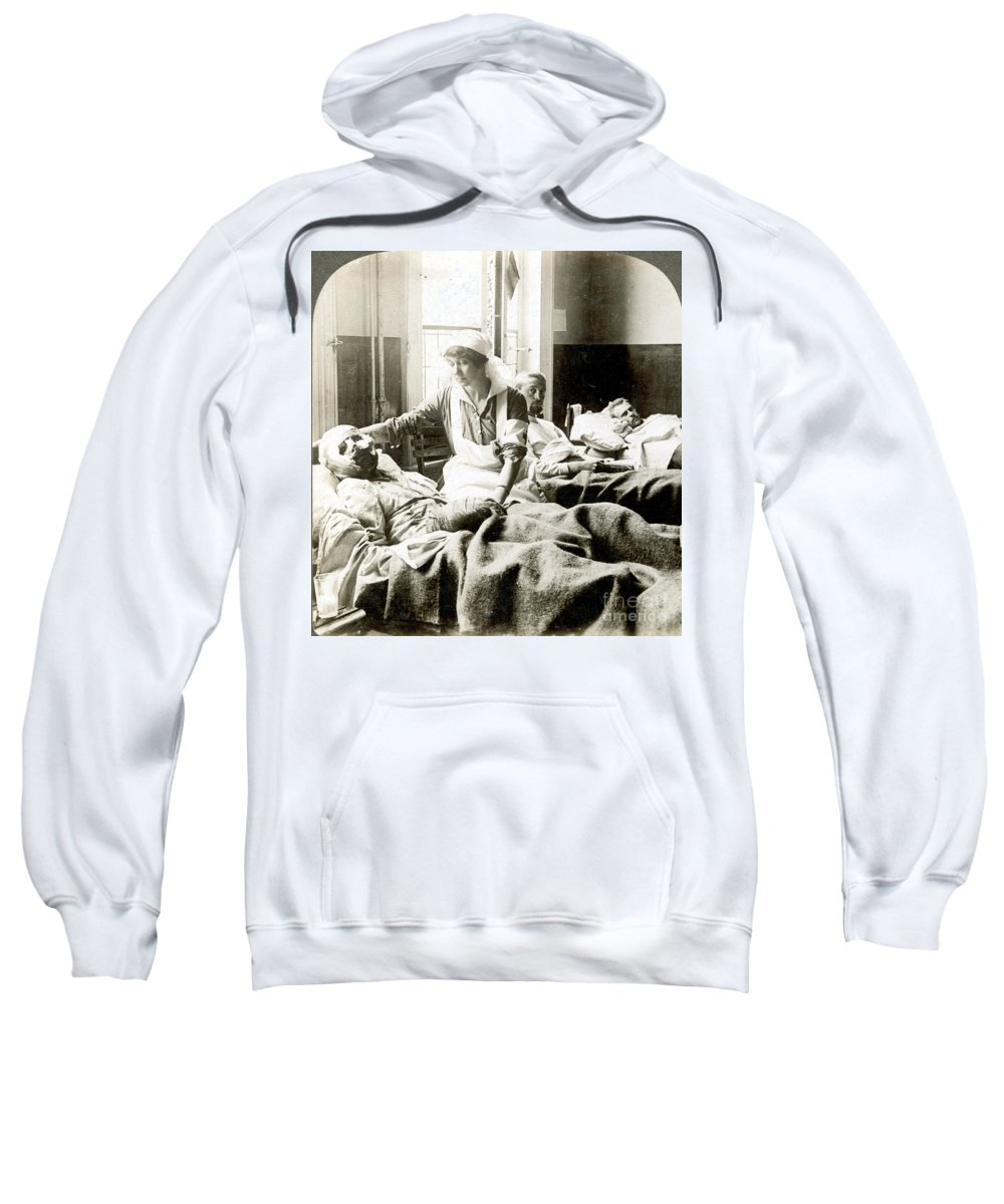 1914 Sweatshirt featuring the photograph World War I: Nurse by Granger