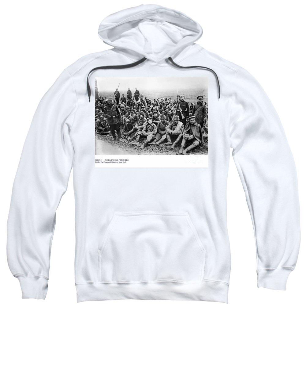 1914 Sweatshirt featuring the photograph World War I: Prisoners by Granger