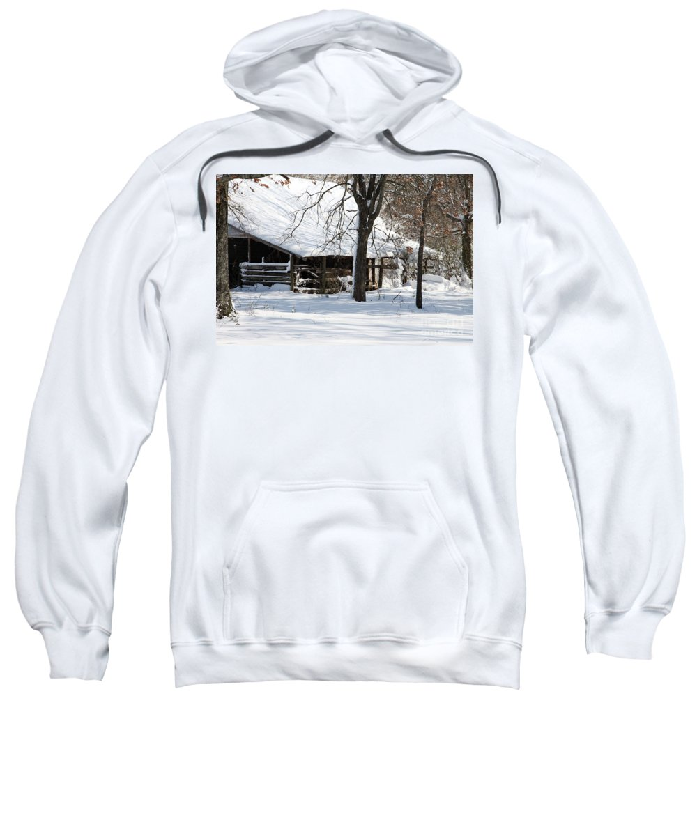 Rural Sweatshirt featuring the photograph Wrapped In Silence by Amanda Barcon