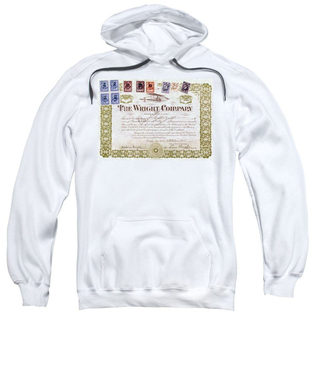 1915 Sweatshirt featuring the photograph Wright Brothers, 1915 by Granger