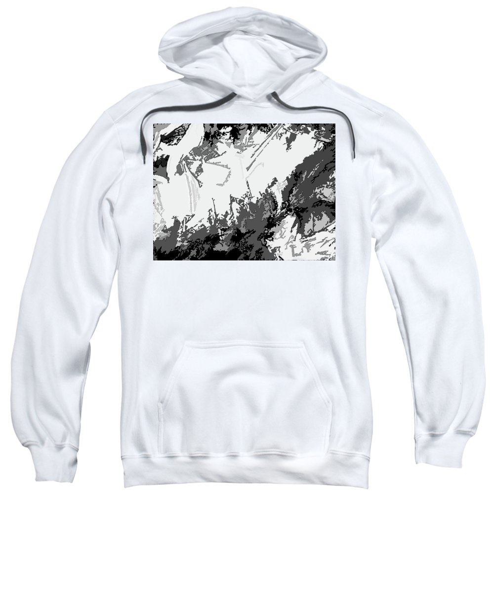 Abstract Sweatshirt featuring the digital art Writing In Snow by Lenore Senior