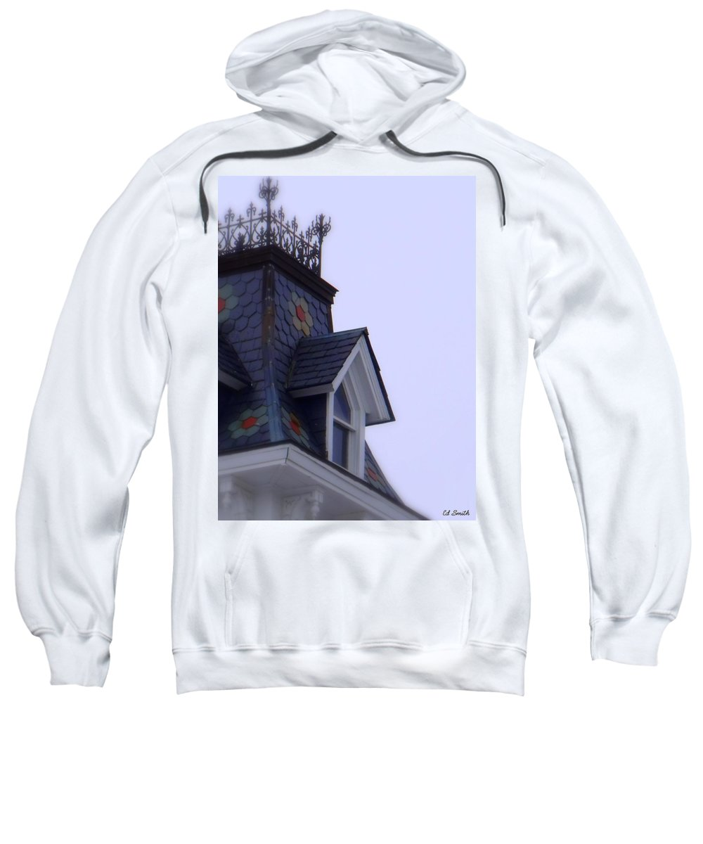 Wrought Iron Antique Roof Top Sweatshirt featuring the photograph Wrought Iron Roof Top by Ed Smith