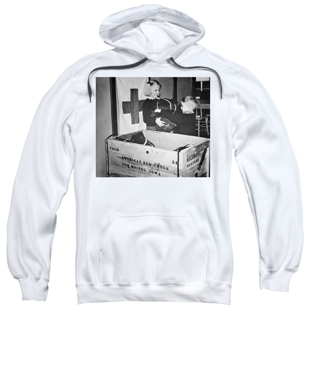 1942 Sweatshirt featuring the photograph Ww II: Red Cross, C1942-43 by Granger