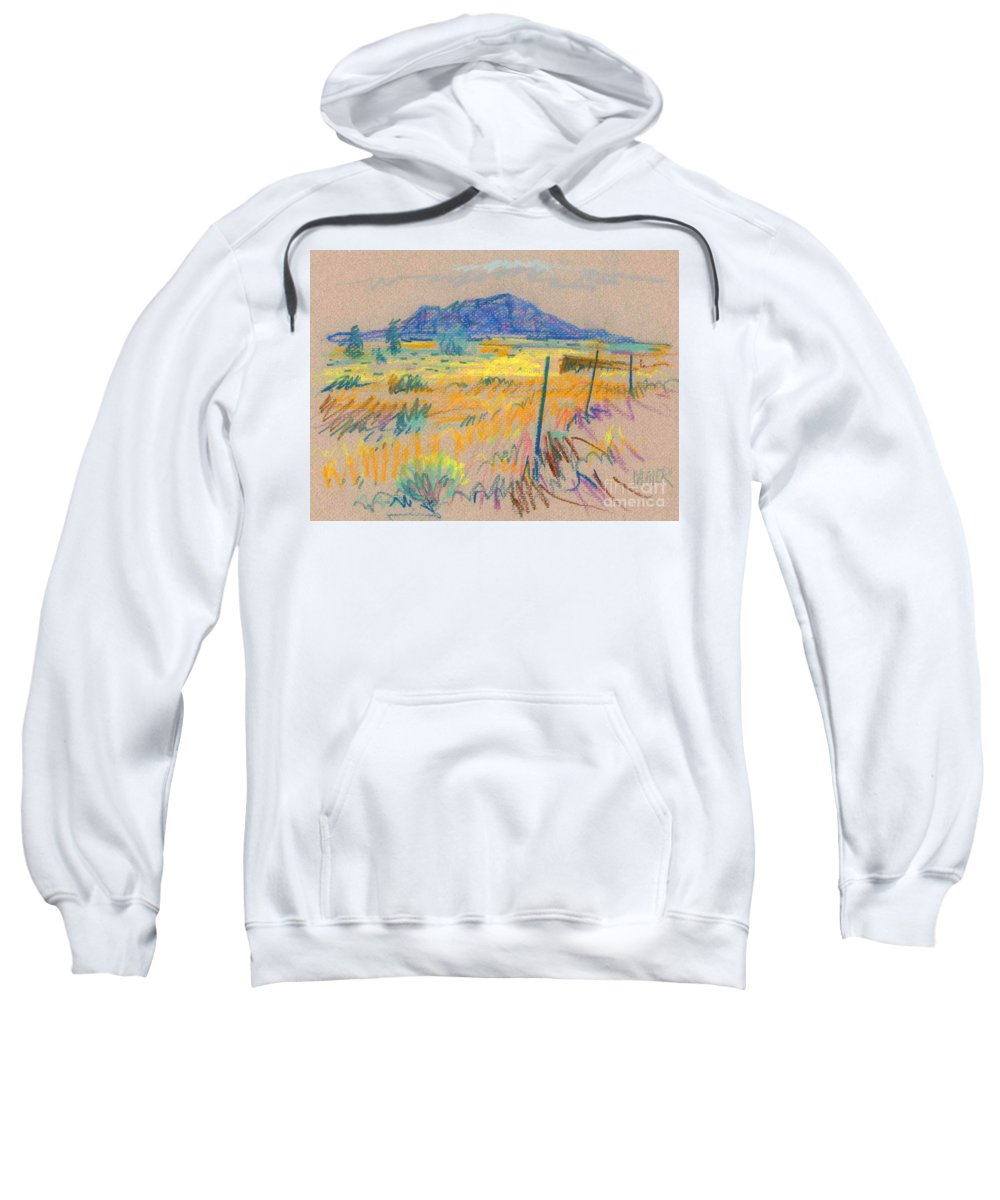 Pastel Sweatshirt featuring the painting Wyoming Roadside by Donald Maier